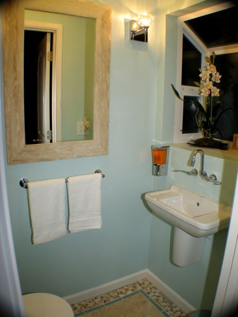 Blog archive very tiny powder room for Smallest powder room size